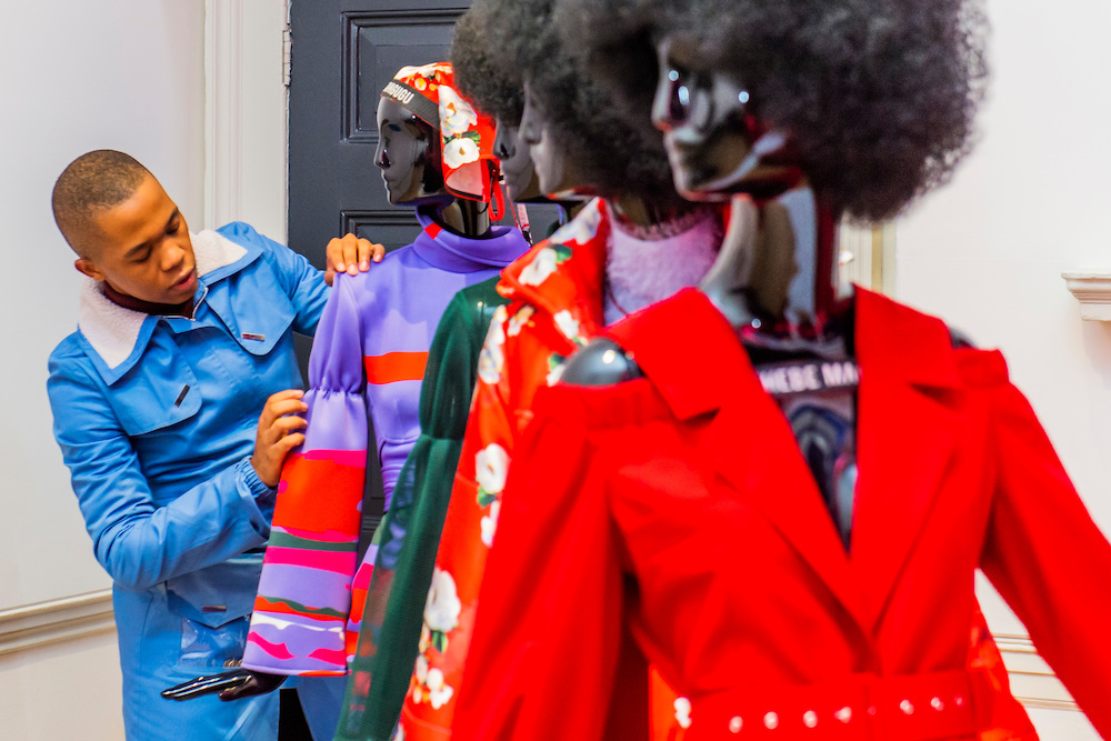 south african designer thebe magugu wins  lvmh prize