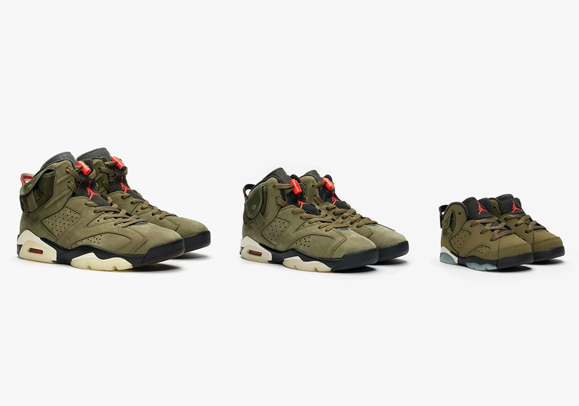 travis scott air jordan  cactus jack family sizes