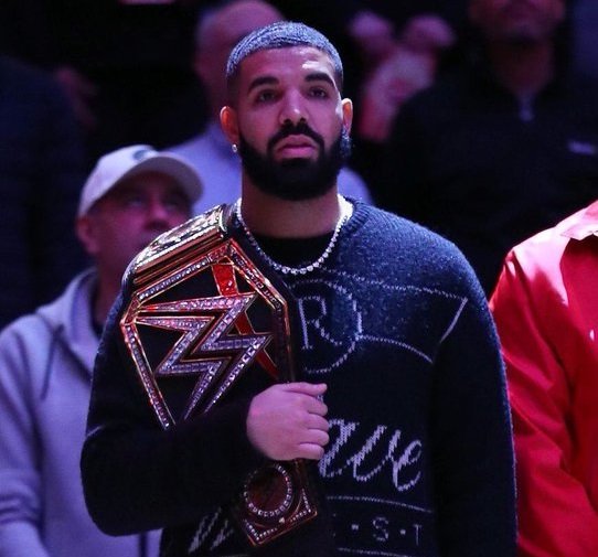 Drake Brings WWE Championships to Raptors-Bucks Game