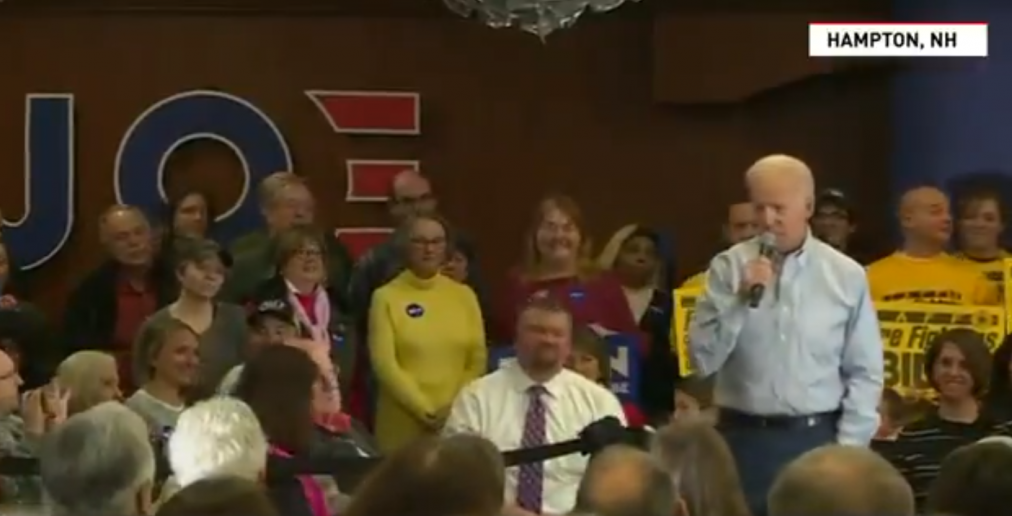 Joe Biden Calls a Lady a 'Lying, Dog-Face Pony Soldier' After She Says She Went to Caucus