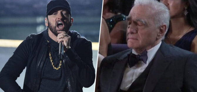 [WATCH] Martin Scorcese Caught Sleeping During Eminem's Oscar Performance