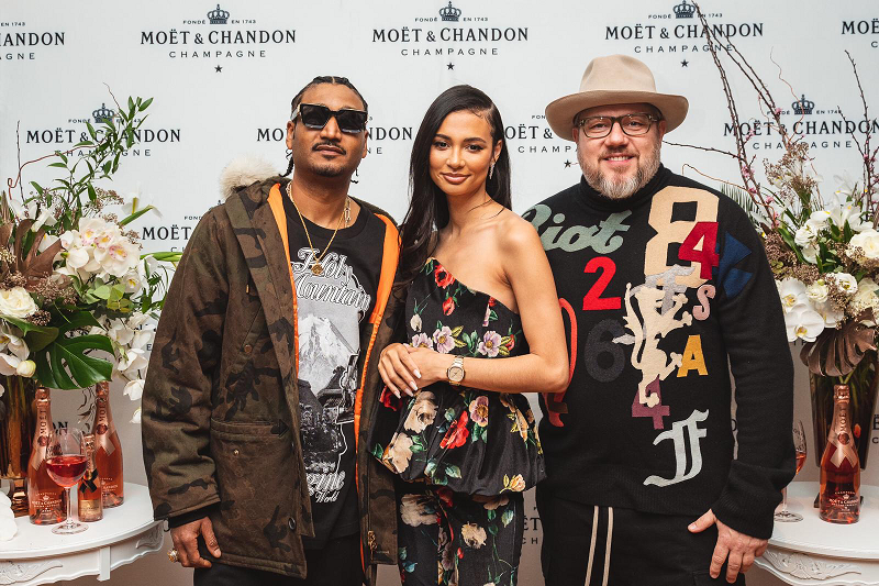 Moët & Chandon and Jonathan Mannion Celebrate Don 'Don C.' Crawley and Kristen Noel Crawley in Chicago