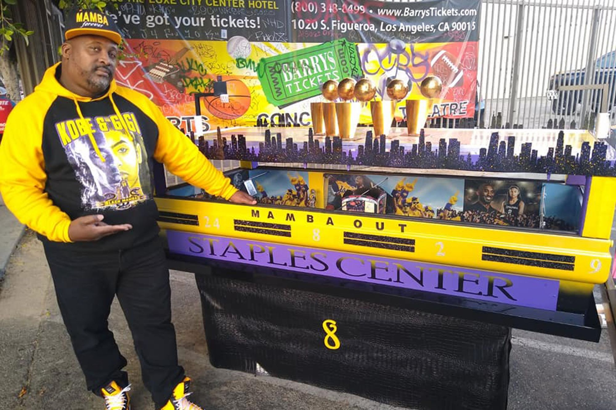 North Carolina Man Creates Kobe Bryant Custom Made Tribute Casket