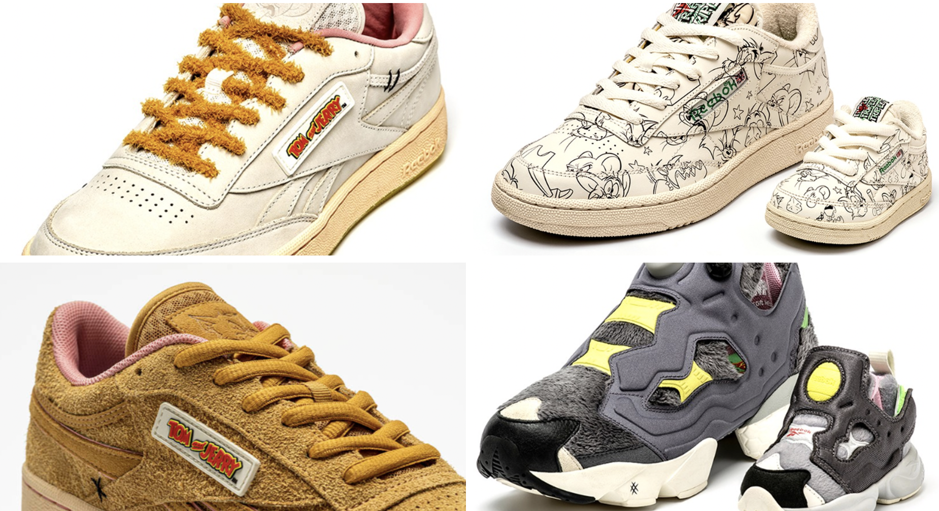 Reebok Releases 'Tom And Jerry' Collaboration Sneaker