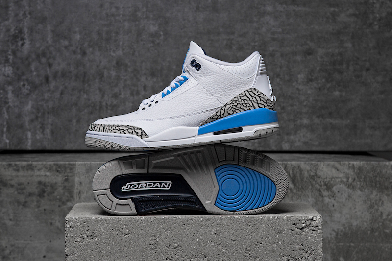 Air Jordan Retro 3 'UNC' Set for March 7 Release at Champs Sports
