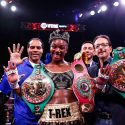 LR SHO FIGHT NIGHT CLARESSA SHIELDS WINS TRAPPFOTOS JAN