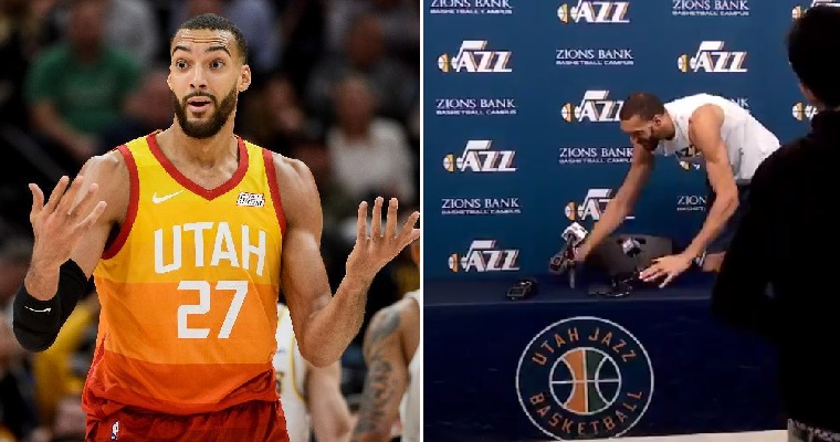 [WATCH] Media Scared After Rudy Gobert Touched Mics Before Being Diagnosed With Coronavirus