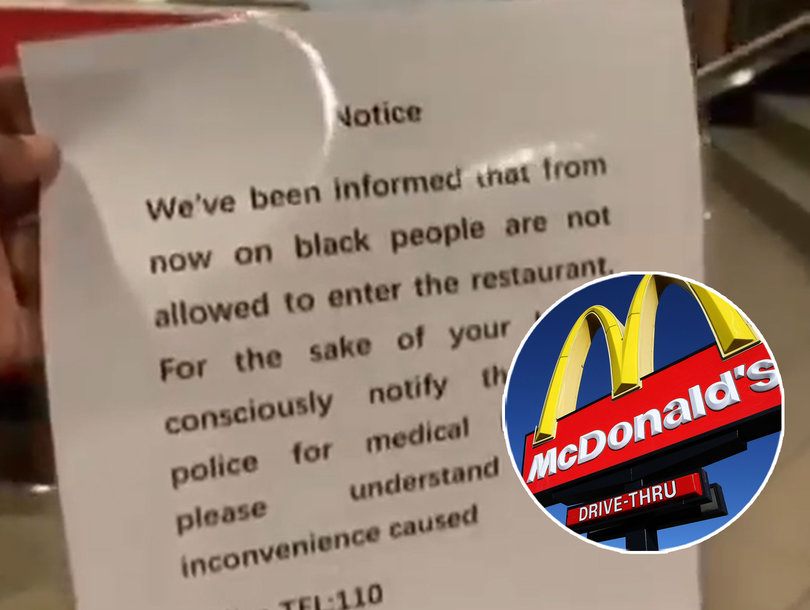 McDonald's in China Apologizes for 'No Black People Allowed' Sign During Pandemic