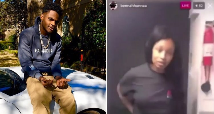rapper bennahhunnaa shot instagram live video