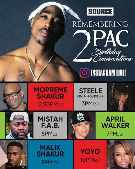 The Source Magazine Hosts 'Tupac Remembrance Day' For His Birthday Featuring Mopreme Shakur, Malik Shakur, Yo Yo, Steele of Smif N Wessun, Mistah F.A.B. And April Walker