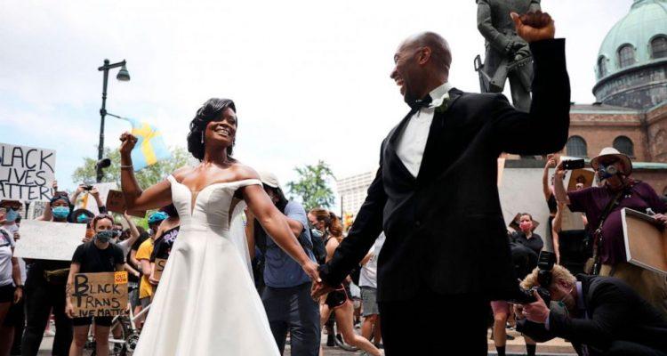 Philadelphia Couple Gets Married During Black Lives Matter Protest