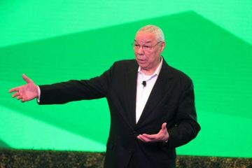former us secretary of state colin powell in mexico acapulco shutterstock editorial a