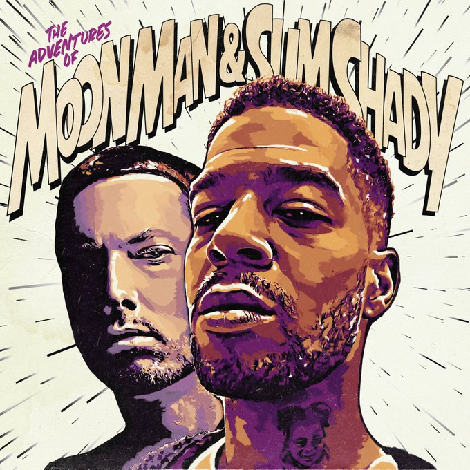 """Eminem and Kid Cudi New """"The Adventures Of Moon Man And Slim Shady"""" Single"""