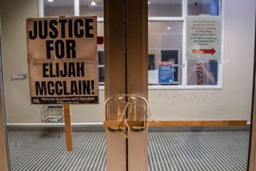 protest in aurora colorado for elijah mcclain aurora usa shutterstock editorial 10701474aw
