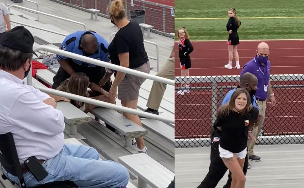 [WATCH] Woman Tased And Arrested After Refusing To Wear A Mask at Football Game