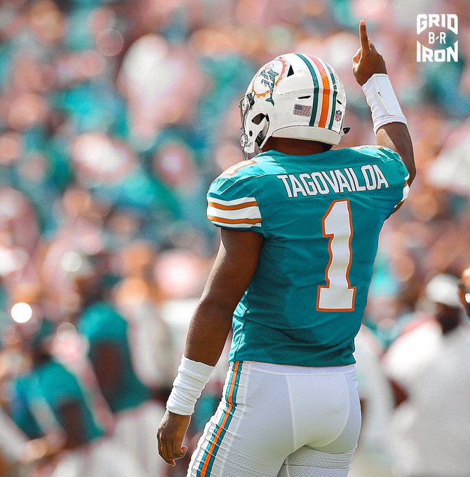 SOURCE SPORTS: Dolphins Rolling With Rookie Tua Tagovalioa as the Starting Quarterback