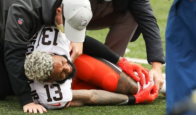 Odell Beckham Jr Season is Over With a Torn ACL