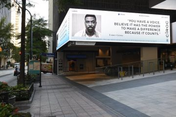 Lance Gross x CÎROC Launch New CÎROCStands Billboards Celebrating Freedom to Vote ATL copy