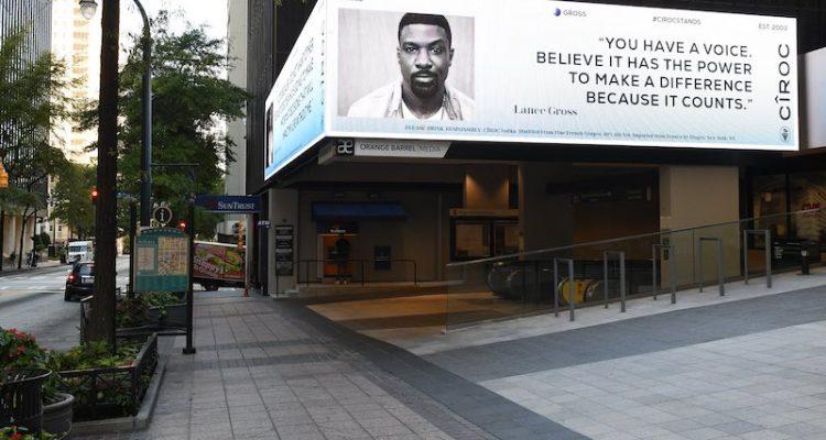 Lance Gross x CÎROC Launch New CÎROCStands Billboards Celebrating Freedom to Vote ATL copy