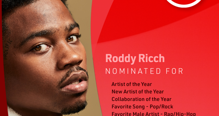 Roddy Ricch and The Weeknd Lead 2020 American Music Awards Nominations