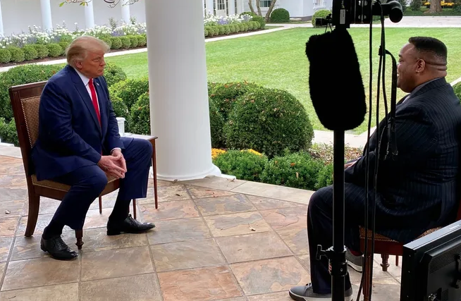 "Jason Whitlock Calls Antifa The ""Modern Day KKK"" In Interview With Donald Trump"