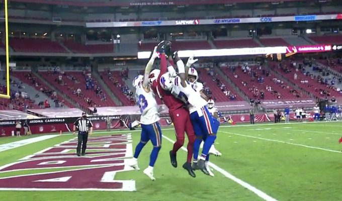 Kyler Murray and Deandre Hopkins Connect for Insane Hail Mary