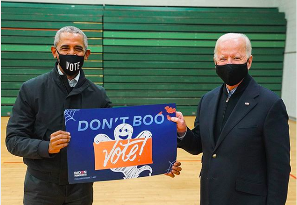 [WATCH] Former President Barack Obama Casually Hits 3-Pointer To Urge People To Vote