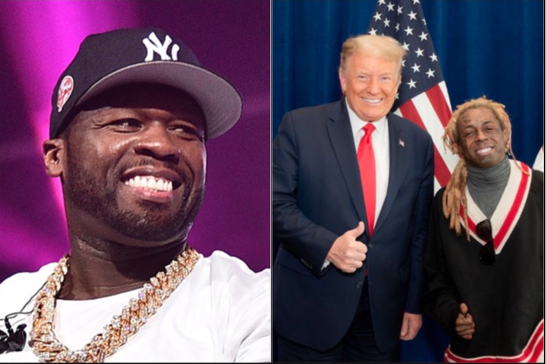 50 Cent Tells Lil Wayne to 'Call Trump' After Being Hit With Federal Gun Charges