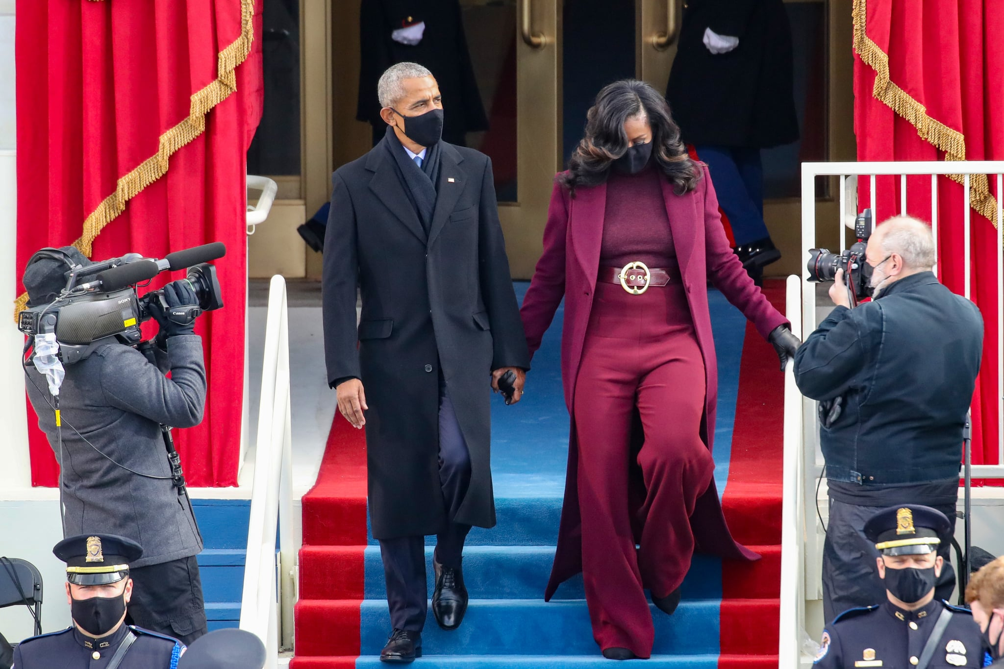Former First Lady Michelle Obama Steals Inauguration Shine With Chic Elegant Fashion