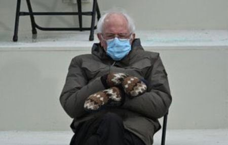 Bernie Sanders Reacts To Meme able Inauguration Day Moment I Was Just Trying To Keep Warm