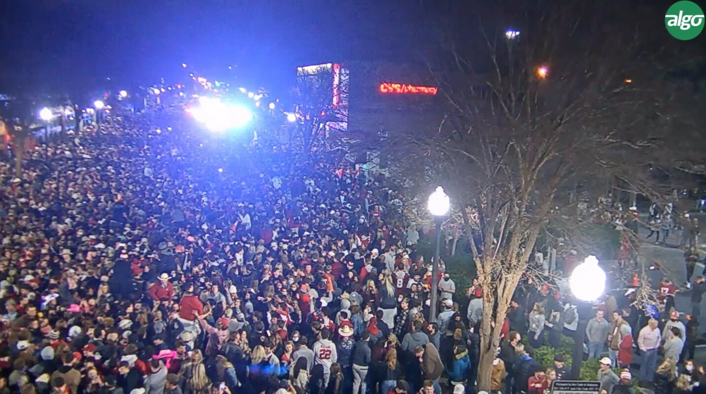SOURCE SPORTS: Alabama Fans Flock the Streets of Tuscaloosa After Winning National Championship Despite COVID-19 Warnings