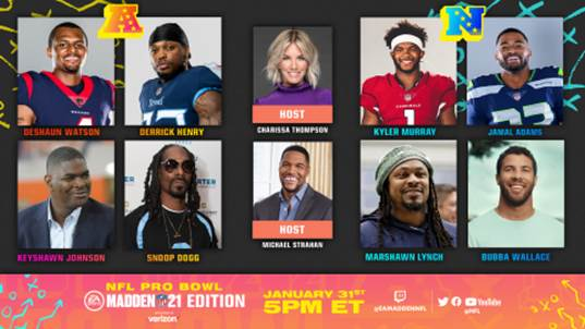 Snoop Dogg, Marshawn Lynch, and More to Compete Virtually in 'Pro Bowl: The Madden NFL 21 Edition' Presented by Verizon