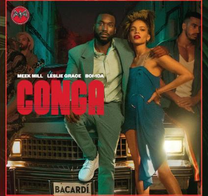 "Meek Mill, Leslie Grace, and Boi-1da Create New ""Conga"" Single"