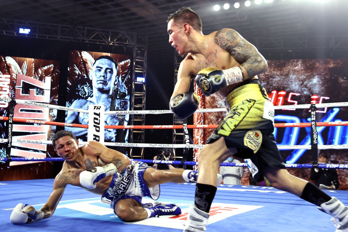 SOURCE SPORTS: Oscar Valdez Sends Miguel Berchelt To Sleep With Possible Knockout Of The Year