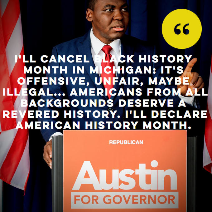 Black GOP Gubernatorial Candidate Vows to Cancel Black History Month if Elected