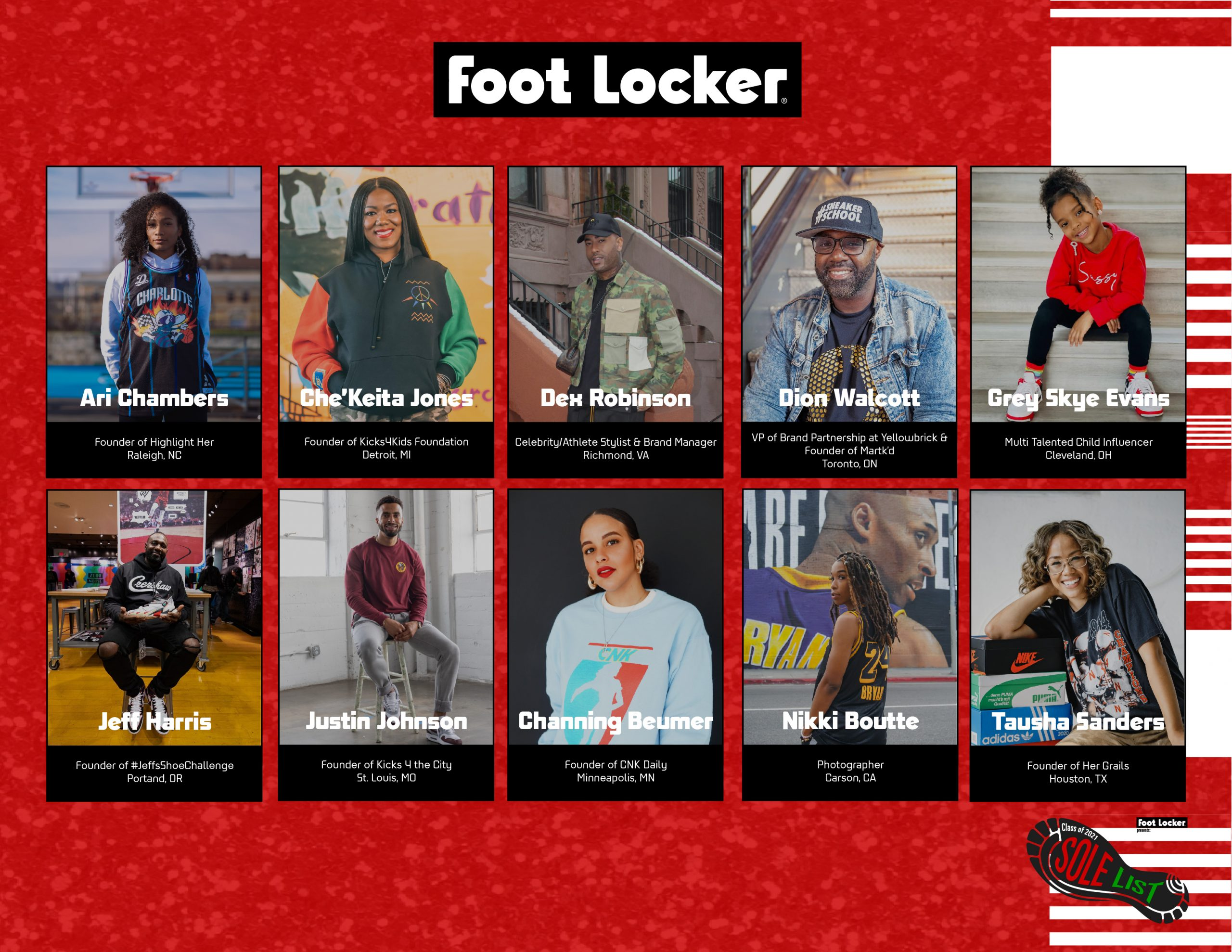 "Foot Locker Honors Black Talent in Sneakers with Inaugural ""Sole List"""