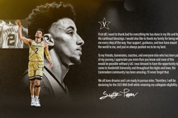 Vanderbilt guard Scotty Pippen Jr., the son of Scottie Pippen, announced Saturday that he is entering the NBA Draft.
