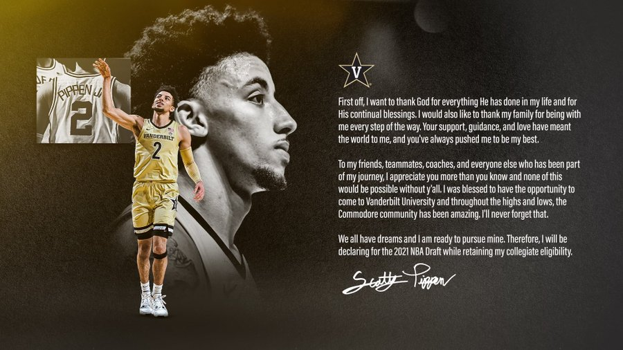 SOURCE SPORTS: Scottie Pippen Jr Declares For The NBA Draft