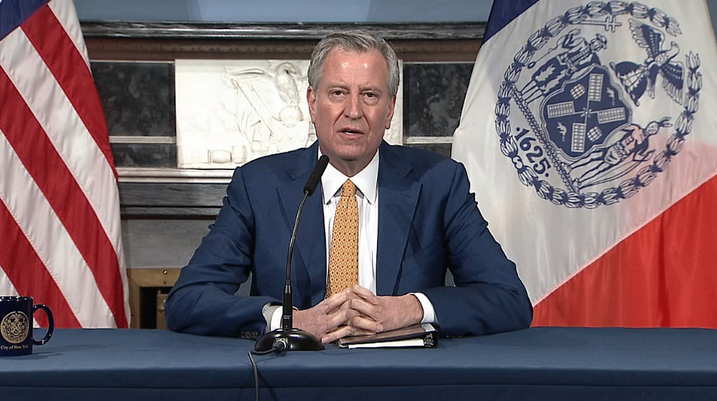 NYC Mayor Bill de Blasio Says City Will Be Fully Reopened By July 1st