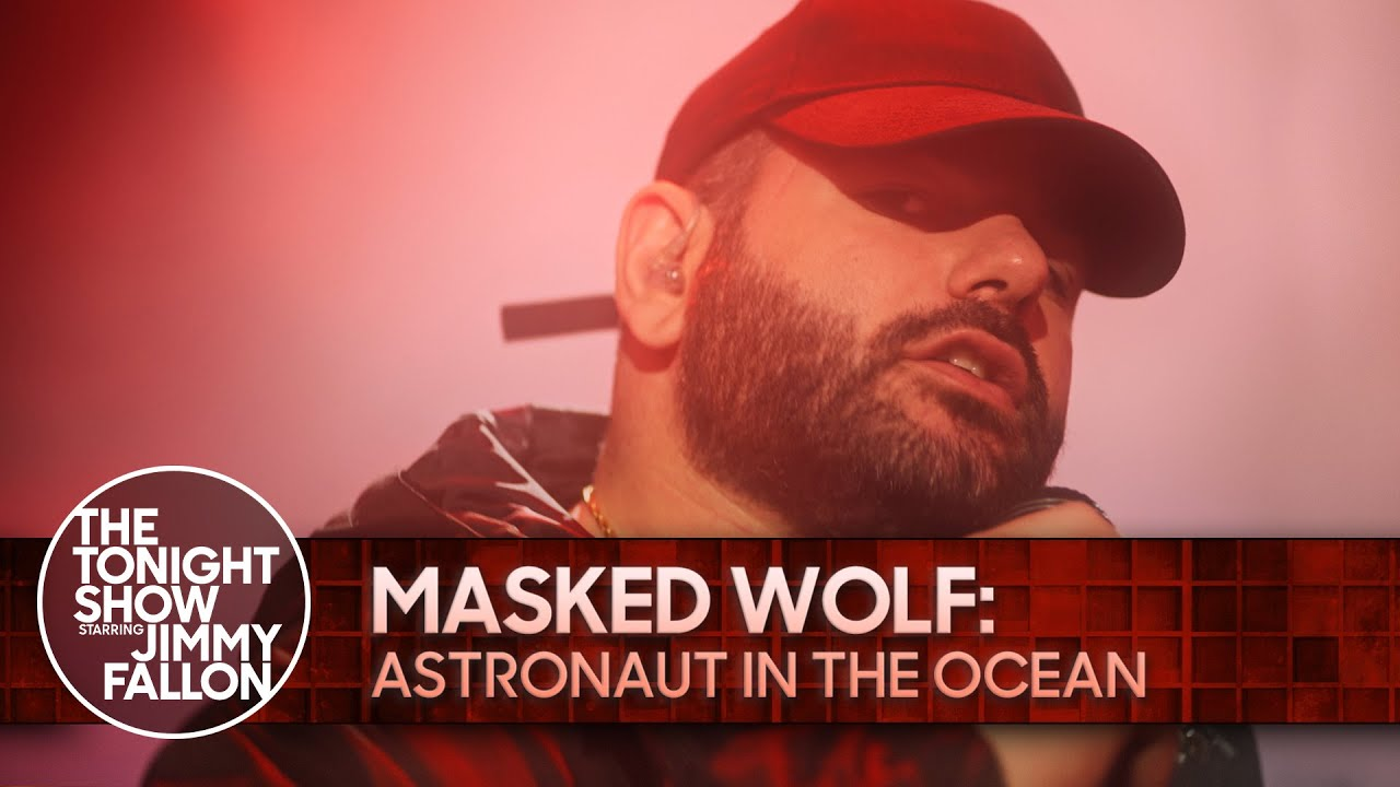 Chart-Topping Rapper Masked Wolf Appears On The Tonight Show With Jimmy Fallon