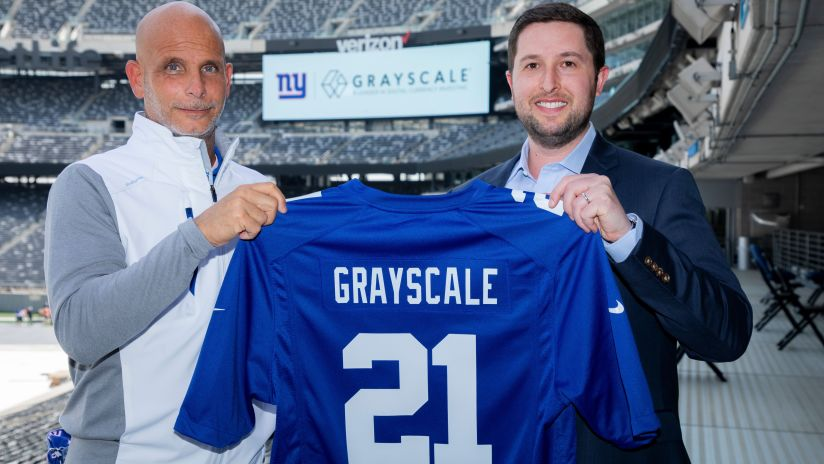 New York Giants, Grayscale Investments Announce First Cryptocurrency Partnership of an NFL Team