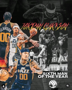 Jordan Clarkson Named NBA's Sixth Man of the Year