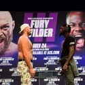 Tyson Fury and Deontay Wilder Face-Off Silently for Five Minutes