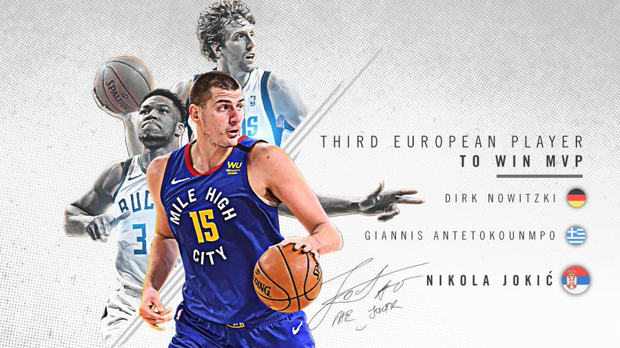 SOURCE SPORTS: Nikola Jokic Named NBA MVP