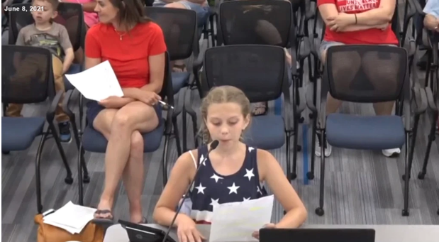 [WATCH] 9-Year-Old Girl Demands BLM Posters Be Taken Down At School Board Meeting