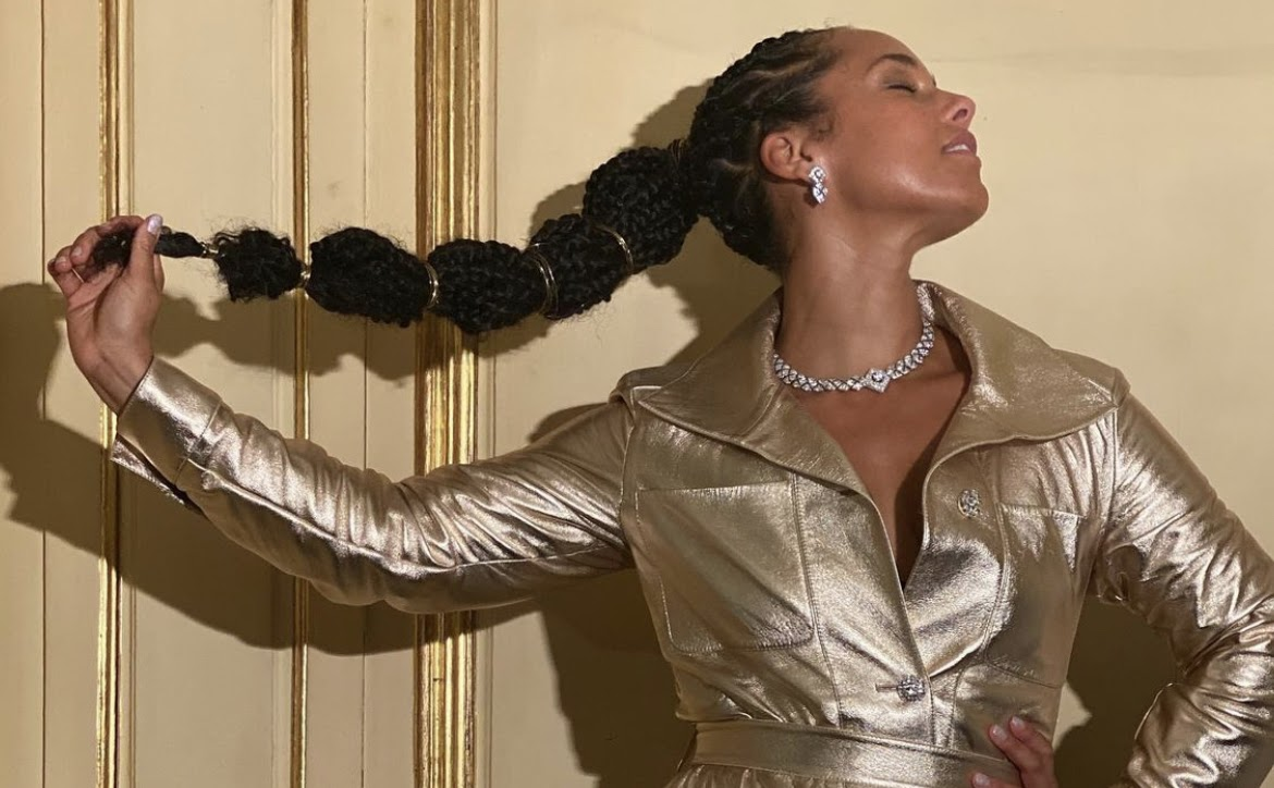 HER TRENDS: Alicia Keys' High Impact Ponytail-A Summertime Staple