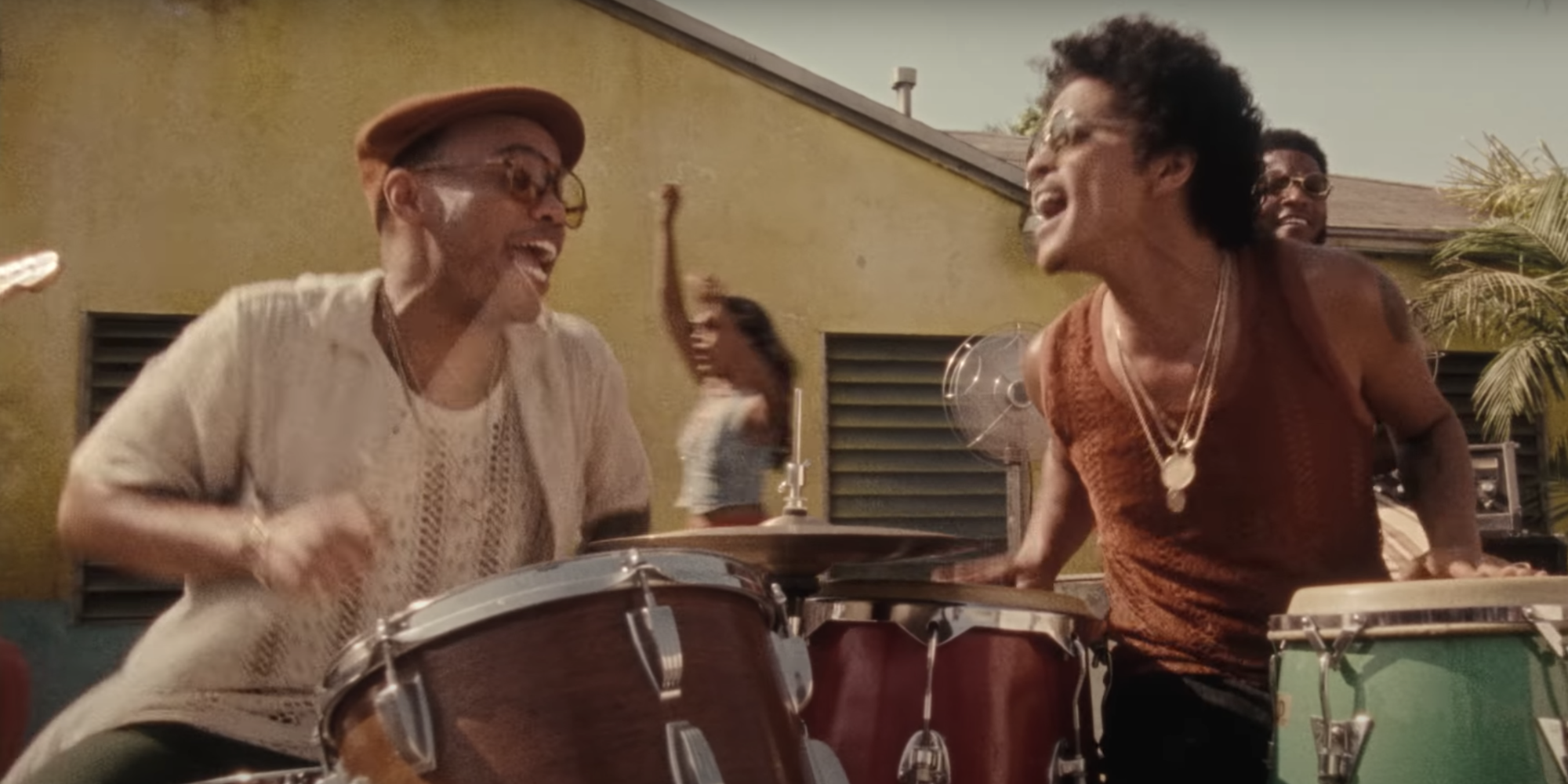The source |  Bruno Mars and Anderson .Paak finally walk through the door to deliver Silk Sonic Track's new 'Skate'