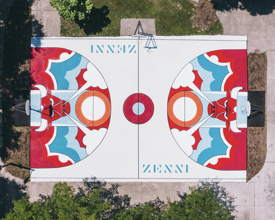 SOURCE SPORTS: Chicago Bulls and Zenni Optical Refurbish Basketball Court on City's South Side