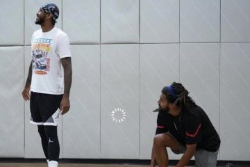 J.Cole and Carmelo Anthony Link Up for Hoops Session