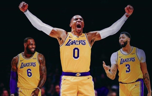 Russell Westbrook heads home to play for the Los Angeles Lakers